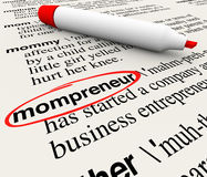 Mompreneur Entrepreneur Mother Working Home Business Dictionary Royalty Free Stock Image