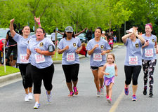 Moms' Day 5K run. Stock Images
