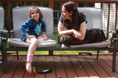 Moms flicka Royaltyfri Bild