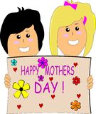 Moms special day Royalty Free Stock Image