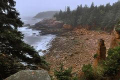 Momument Cove - Acadia Royalty Free Stock Photo
