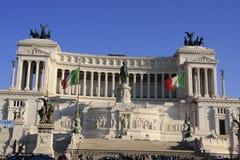 Momument till victoren Emanuelle II, Rome, Italien Arkivfoton