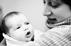 Momy en dochter stock fotografie