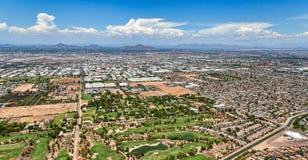A monção nubla-se a construção sobre o sudoeste do deserto Imagem de Stock