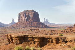 Monólito no vale do monumento Foto de Stock