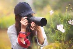 Mon épouse est photographe amateur photographie stock