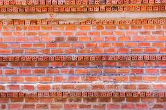 Mon brick wall with different alignment background stock image