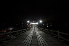 Mon Bridge at Night Royalty Free Stock Photos