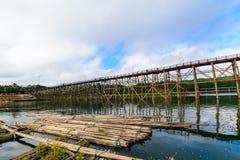 Mon Bridge in Sangkhlaburi Stock Images