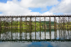Mon Bridge in Sangkhlaburi Royalty Free Stock Photo