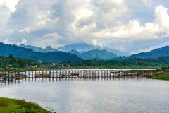 Mon Bridge in Sangkhlaburi, Thailand Stock Images