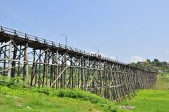 Mon bridge at Sangklaburi Royalty Free Stock Photos