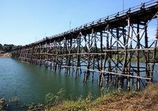 MON BRIDGE. To cross songkalia river Stock Image