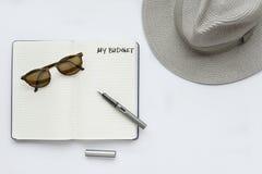 Mon budget, écrit sur un carnet Photo stock