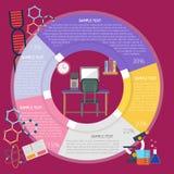 Mon bureau Infographic illustration libre de droits