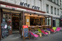 Mon Cafe in the Bastille neighborhood Royalty Free Stock Photography
