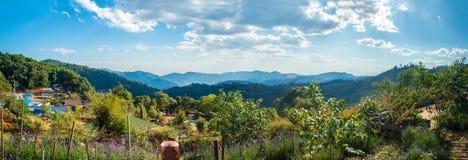 Mon Cham, Chiang Mai, Thailand - Toeristische attracties op hoogst p Royalty-vrije Stock Afbeeldingen