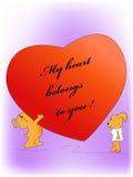 Mon coeur appartient à vous Photographie stock libre de droits