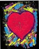 Mon coeur rouge Photos stock