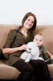 Mon en baby royalty-vrije stock afbeelding