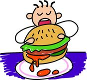 Mon hamburger illustration stock
