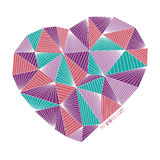Mon illustration du coeur brisé Concept de T-shirt Images libres de droits