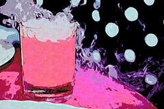 Mon imagination rose dans les boissons froides illustration libre de droits