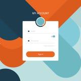 Mon interface utilisateurs de compte Photographie stock libre de droits