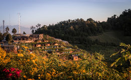 Mon Jam Chiangmai view. Place of camping at Chiangmai Thailand Royalty Free Stock Image