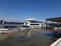 Mon Jardin Hotel. Danube Delta view royalty free stock photo