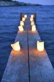 Mon moment romantique, quand la nuit tombe. Image stock