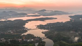 Mon most, Sangkhlaburi, Kanchanaburi, Tajlandia, Azja Obraz Royalty Free