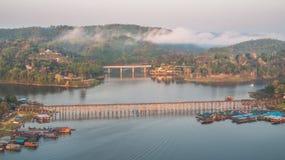 Mon most, Sangkhlaburi, Kanchanaburi, Tajlandia, Azja Zdjęcia Stock