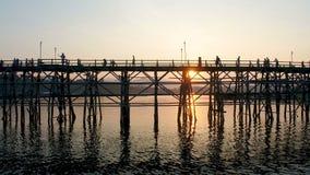 Mon most, Sangkhlaburi, Kanchanaburi, Tajlandia, Azja zbiory wideo