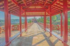 Mon most w Sangkhla Buri kanchanaburi Thailand, Niewidziany thailan obrazy stock