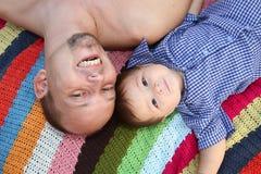 Mon papa et I Images libres de droits