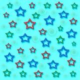 Mon papier de cadeau d'étoiles Image libre de droits