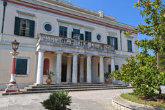 Mon Repo palace at Corfu island Stock Photos