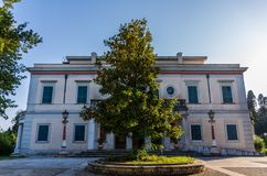 Mon Repos palace at Corfu Greece Royalty Free Stock Photography