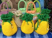 Mon sac de tricotage d'ananas Image stock