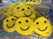 Mon sac de tricotage de sourire Photos stock