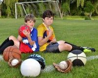 Mon sport est le meilleur ! photo stock