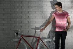 Mon vélo est mon ami Images libres de droits