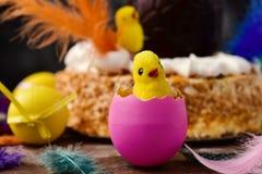 Mona de pascua, cake eaten in Spain on Easter Monday Royalty Free Stock Photos
