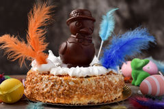Mona de pascua, cake eaten in Spain on Easter Monday Royalty Free Stock Photography