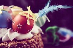 Mona de pascua, cake eaten in Spain on Easter Monday Stock Photos