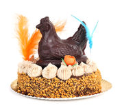 Mona de pascua, an ornamented cake eaten in Spain on Easter Mond Royalty Free Stock Photography