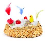 Mona De Pascua, zdobny tort jedzący w Hiszpania na Wielkanocnym Mond fotografia stock