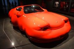 Mona konstmusem Tasmanien den feta bilen Arkivfoto