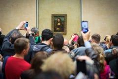Mona Lisa στο μουσείο του Λούβρου Στοκ φωτογραφίες με δικαίωμα ελεύθερης χρήσης